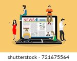 online breaking news concept... | Shutterstock .eps vector #721675564