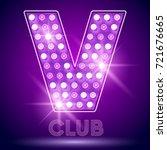 vector chic light up alphabet... | Shutterstock .eps vector #721676665