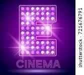 vector chic light up alphabet... | Shutterstock .eps vector #721676791
