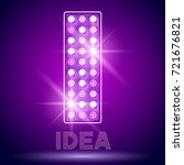Vector chic light up Alphabet set. Luxury Graphic Font. Letter I