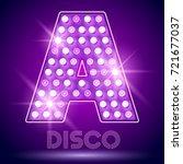 vector chic light up alphabet...   Shutterstock .eps vector #721677037
