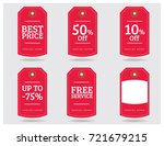special offer sale tag discount ... | Shutterstock .eps vector #721679215