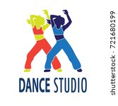 dance logo for dance school ... | Shutterstock .eps vector #721680199