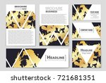 abstract vector layout... | Shutterstock .eps vector #721681351