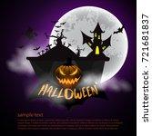 happy halloween text banner... | Shutterstock .eps vector #721681837