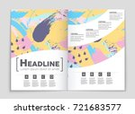 abstract vector layout... | Shutterstock .eps vector #721683577