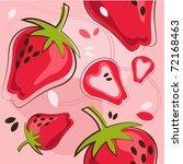 vector pattern of strawberry   Shutterstock .eps vector #72168463