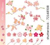cherry blossoms icons set....