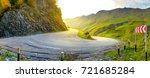 a sharp turn on a beautiful...   Shutterstock . vector #721685284