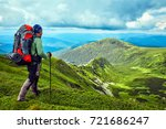 hiking  the concept of an... | Shutterstock . vector #721686247