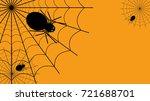 halloween spider web vector ...   Shutterstock .eps vector #721688701