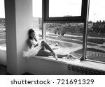 ballerina in box white tutu | Shutterstock . vector #721691329