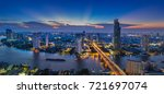 panorama of twilight city view... | Shutterstock . vector #721697074