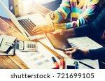team business mans job .... | Shutterstock . vector #721699105
