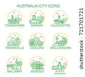 australia city icons. vector | Shutterstock .eps vector #721701721