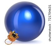 christmas ball decoration blue... | Shutterstock . vector #721704631