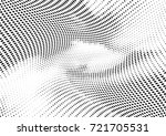abstract halftone wave dotted... | Shutterstock .eps vector #721705531