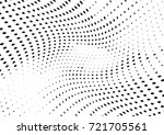abstract halftone wave dotted... | Shutterstock .eps vector #721705561