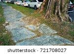 tree root causing pavement...   Shutterstock . vector #721708027