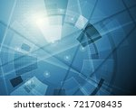 abstract blue technology... | Shutterstock .eps vector #721708435