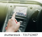 technology in car with gps... | Shutterstock . vector #721712407