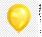 realistic yellow balloon ... | Shutterstock .eps vector #721718239
