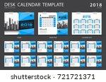 desk calendar 2018 template.... | Shutterstock .eps vector #721721371