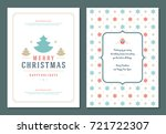 christmas greeting card design... | Shutterstock .eps vector #721722307