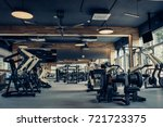 modern light gym. sports... | Shutterstock . vector #721723375