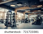 modern light gym. sports... | Shutterstock . vector #721723381