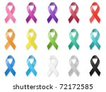 awareness ribbons | Shutterstock . vector #72172585
