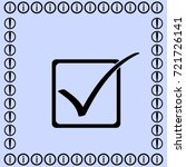 checkbox icon  vector... | Shutterstock .eps vector #721726141