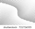 abstract halftone wave dotted... | Shutterstock .eps vector #721726555
