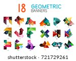 set of abstract geometric... | Shutterstock .eps vector #721729261