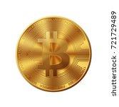 golden bitcoin | Shutterstock .eps vector #721729489