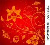 floral background with...   Shutterstock .eps vector #72173167