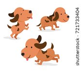 set of dog in different pose.... | Shutterstock .eps vector #721733404