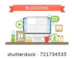 blogging concept illustration.... | Shutterstock .eps vector #721734535