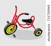 red tricycle children   Shutterstock .eps vector #721735945