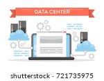data center cloud tecnology for ...   Shutterstock .eps vector #721735975