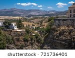 ronda is an unique spanish town ... | Shutterstock . vector #721736401
