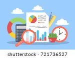 audit concept illustration.... | Shutterstock .eps vector #721736527