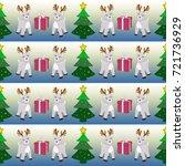 seamless  pattern  reindeer ... | Shutterstock . vector #721736929