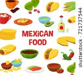 mexican food poster. large... | Shutterstock .eps vector #721737544