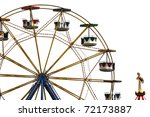 colorful ferris wheel and... | Shutterstock . vector #72173887