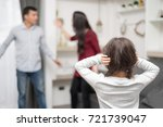 domestic violence and family... | Shutterstock . vector #721739047
