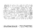 call center outline... | Shutterstock .eps vector #721740781