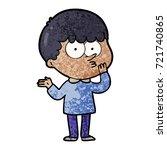 cartoon curious boy   Shutterstock .eps vector #721740865