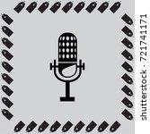 retro  microphone vector icon | Shutterstock .eps vector #721741171