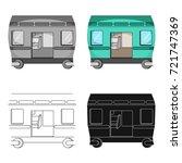 wagon  single icon in cartoon...   Shutterstock .eps vector #721747369